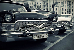 retro car show in minsk