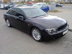 bmw7 rent in minsk