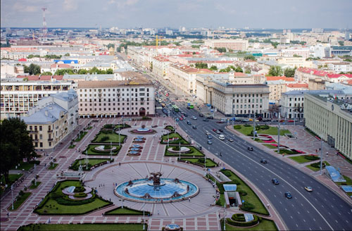 independance square in minsk