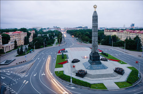 victory square on nezavisimosti avenue